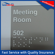 ABS Plastic Braille Room Number Sign for Hotel / Restaurant