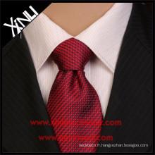 Cravates de polyester tissées en gros de Jacquard tissées