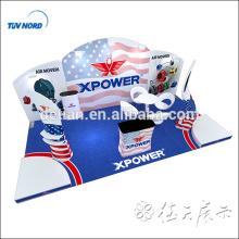 Soporte de exhibición de la tela de la tensión exhibición estándar de la exposición de la cabina de exhibición