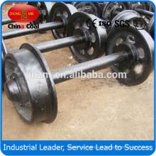 Rodas e eixo de alta qualidade do vagão do ferro fundido do Oem