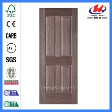 JHK-004P Natural Brich 4 Panel  Laminate Wood Door Skin Design