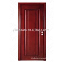 Entrée de vente chaude MDF surface affleurante fini conception de porte en bois