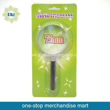 75mm promotional wooden handle magnifying glass