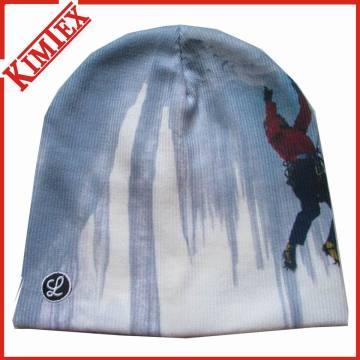 Высококачественная акриловая трикотажная сублимационная печатная шляпа