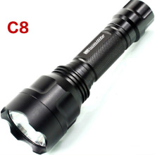 Outdoor LED C8 Long Distance Light Range Tactical Flashlight Factory Price Waterproof