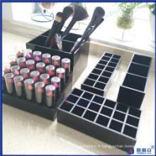 Porte-crayons en acrylique de vanité en gros d'usine en gros