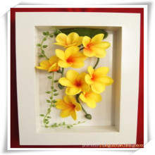 PU Plumeria Simulation Flowers Plant for Decoration
