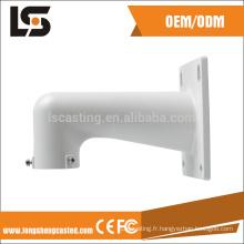 Caméra de sécurité extérieure hikvision aluminium partie pour caméra cctv