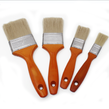 PBW-003 Synthetic Fiber Tinplated Ferrule Red Wooden Handle Paint Brush Set