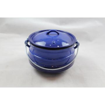 Emaille Cast Iron Flat Potjie