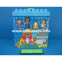 2016 novidade plástico educativo brinquedo bloco de construção (673.105)