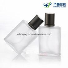 30ml Empty Frost Rectangular Perfume Glass Bottle with Spray Cap