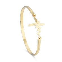 Persönlichkeits-Herzschlag-Armband-Blitz-Kurven-justierbares Armband