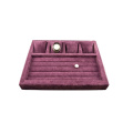 Multiple Purple Fabric Suede Jewelry Display Tray (TY-WR-MPV)