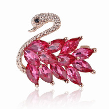 Superstarer Fashion Lovely Alloy Crystal Swan Brooch Pin Clothing Accessories