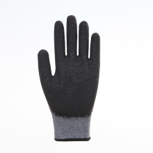 Polyester Smooth Finish Latex Coated Safety Gloves