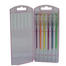 Diamant-Punkt-Gel-Tinten-Feder stellte 6 PCS / Box, Textmarker-Gel-Tinten-Stift ein