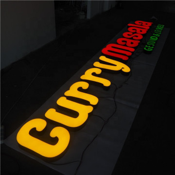 Anpassade Light Lettering Signs Signage Worldwide