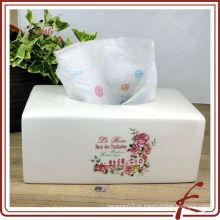 Cerâmica restaurante tecido caixa guardanapo