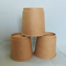 Taza de café biodegradable disponible del papel de Kraft