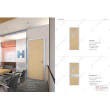 Projeto da porta do quarto do conforto, projeto de madeira da porta do quarto do conforto