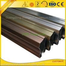 Cadre en aluminium de brossage de haute qualité pour la décoration de meubles