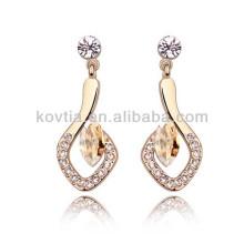 2016 alibaba hängende Ohrringe 18k Gold Ohr Ohrring künstliche Diamant Ohrringe Schmuck