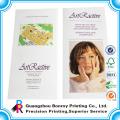 Алибаба высокое качество пользовательские моды версии pantone/CMYK печать глянцевая бумага искусства c2s косметический брошюры дизайн