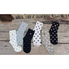 2016 Otoño Nuevos calcetines del algodón de la muchacha de la manera del estilo con el gato Embrodiery Nuevos diseños Venta popular