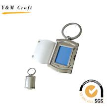 Llavero de metal con diseño de marco de fotos (Y02472)