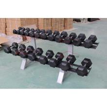 Gym Ausrüstung Hexagon Gummi Hantel Sets für Crossfit