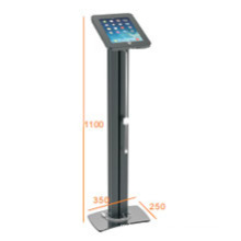 iPad & Tablet Floor Stand Alu Pillar Lockable & Charging Cable (PAD 001C)