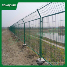 pvc coated curved panel metal frame wire mesh fence