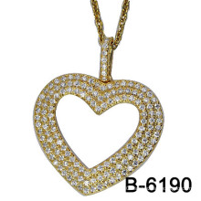 New Design Gold Plating 925 Sterling Silver Pendant with Zircon (B-6190)