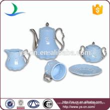 Hotel& restaurant &daily use blue ceramic coffee tea set