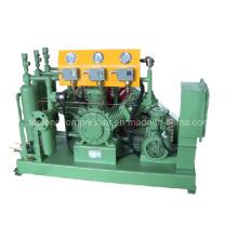 Oil Free Oilless High Pressure O2 Oxygen Helium Nitrogen Reciprocating Compressor (W-Type)