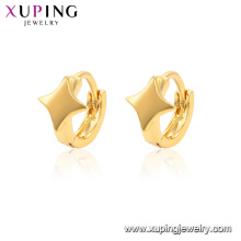 96588 xuping jewelry 24k gold plated self piercing hoop Simple earring