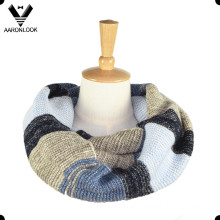 2016 Hot Selling Ombre Knitted Stripe Snood Scarf
