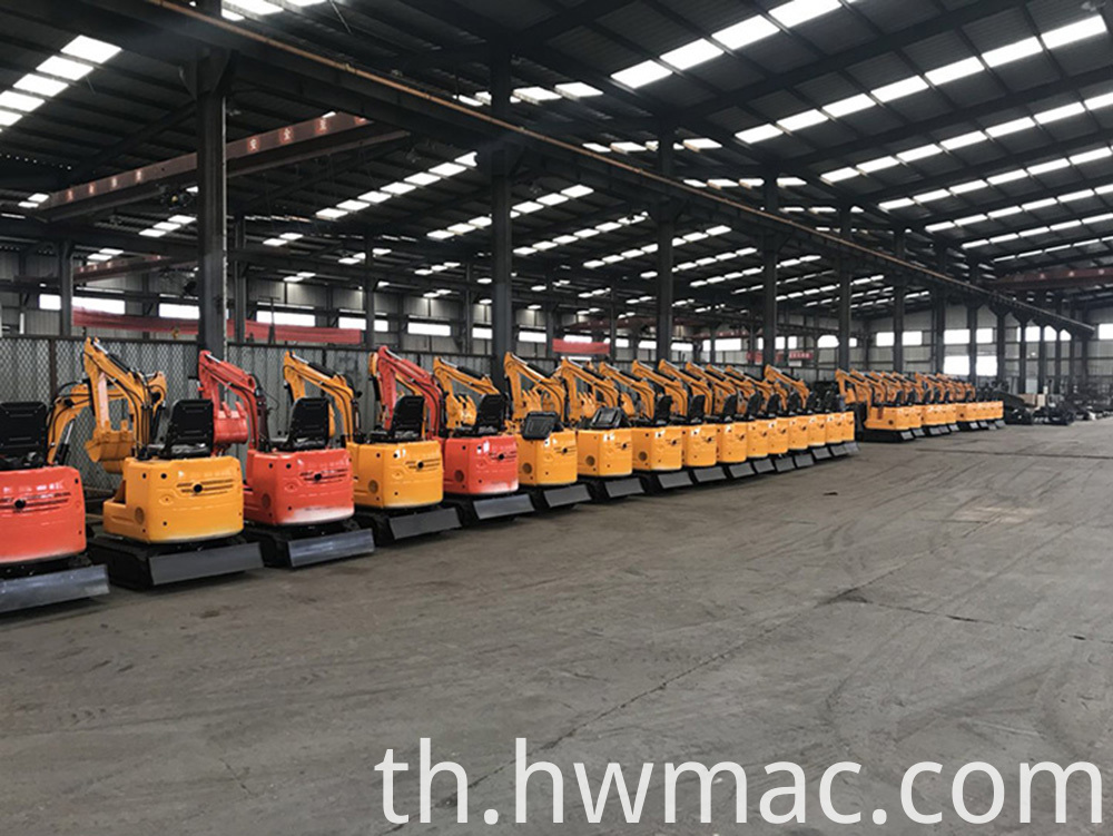 small excavator warehouse 1