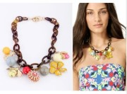 European and American fashion accessories exaggerated bee flowers short necklace