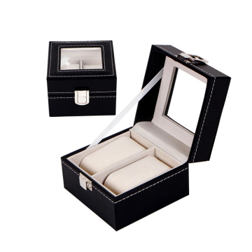 Kotak arloji mewah PU Leather Watch Packaging Box