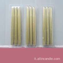Homeware flame golden dinner candle taper candle