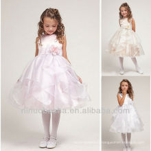 Cute Organza Tea Length Flower Girl Dress