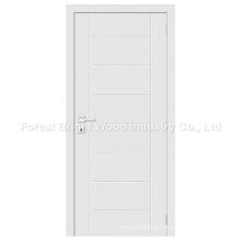 Porta de painel nivelada de madeira branca moderna da venda quente