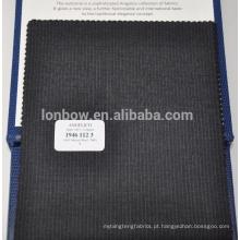 Tecido 100% liso tingido tecido do terno de lãs do merino de W para homens