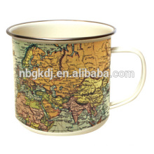 Map Enamel Mug Map Enamel Mug