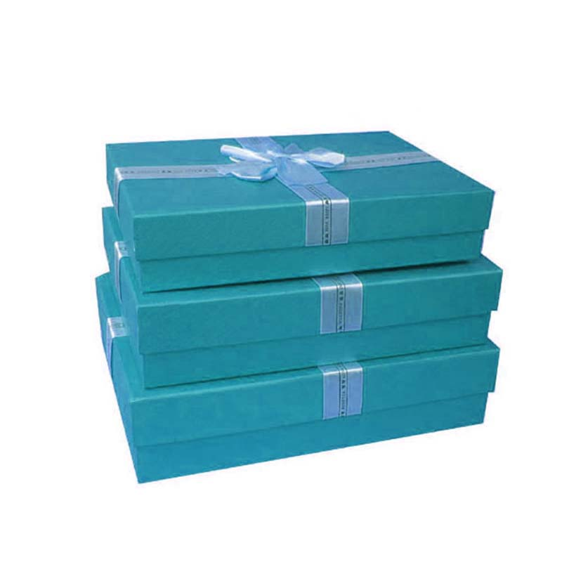 The coloured packaging gift box