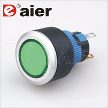 22mm Illuminated Waterproof Pushbutton Wire 12V