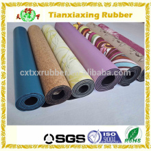 Machine Washable Printed Towel Rubber Yoga Mat