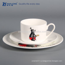 Rabbit Design Hand Painting Hotel Подержанная керамическая посуда